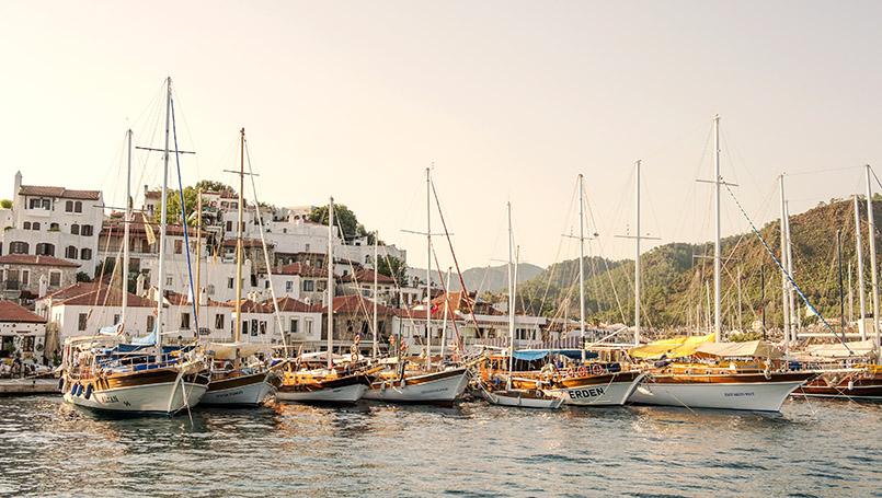 """Etappe der """"Blauen Reise"""": der Hafen von Marmaris"""