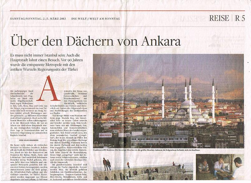 Über den Dächern von Ankara - eine Reportage für die Medien der WELT-Gruppe