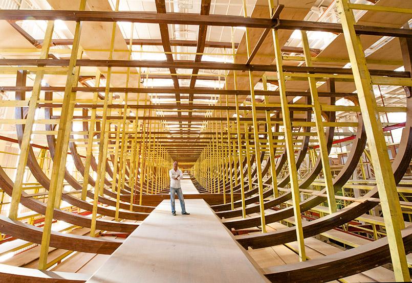 In der Werft von Bozburun entdeckt: der neue Gulet-Holzsegler für Abramowitsch.