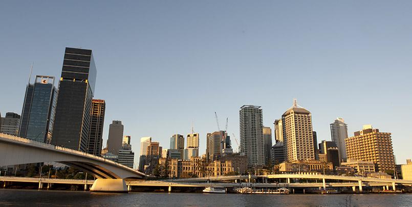 Skyline von Brisbane, der Hauptstadt von Queensland