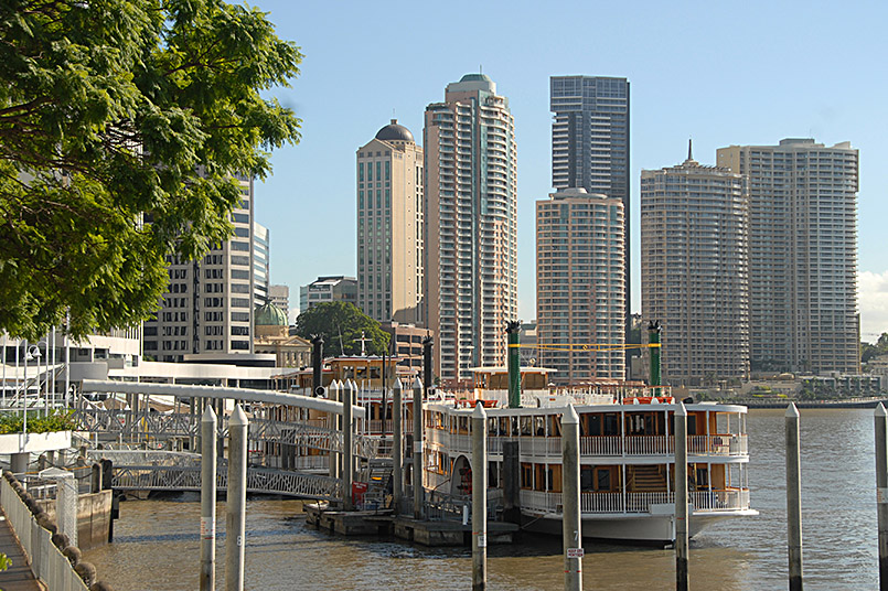 Eagle Street Pier: Büroviertel am Brisbane River