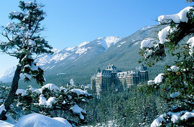 Das Banff Springs Hotel im gleichnamigen Skiort
