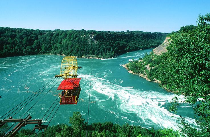 Das Aero Car überquert den Niagara River