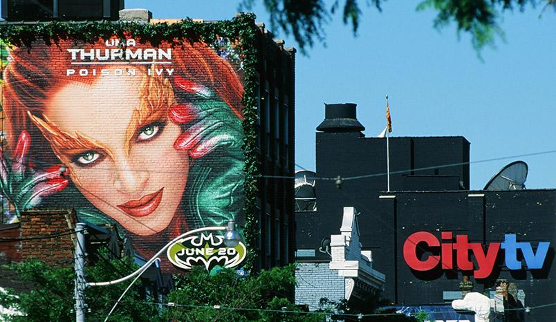 Uma Thurman als Mural an der Queen Street West von Toronto