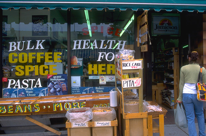 Ein Health Food Shop in der Chinatown von Toronto