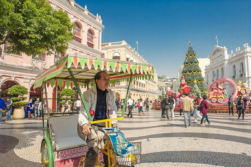 Weihnachtsstimmung in Macao