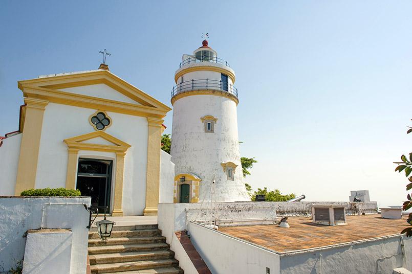 Macao: das Guia-Fort und der Leuchtturm