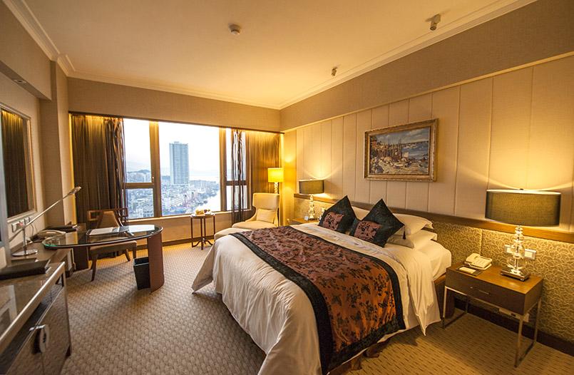 Macao: Zimmer des Sofitl-Hotels am Perlfluss