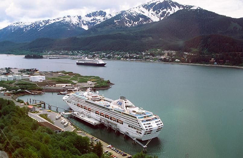 Kreuzfahrt in Alaska: der Hafen von Juneau