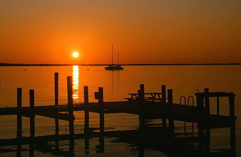 Allabendlich ein atemberaubendes Ereignis: der Sonnenuntergang bei Key Largo auf den Florida Keys