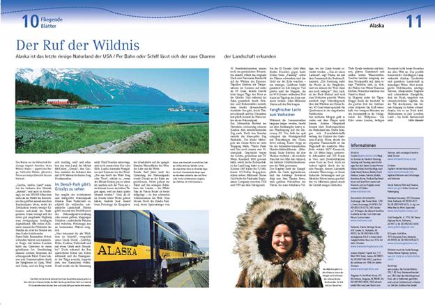 """Alaska in den """"Fliegenden Blättern"""" der Frankfurter Rundschau."""