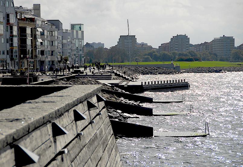Blick von Västrahamn auf die Stadt
