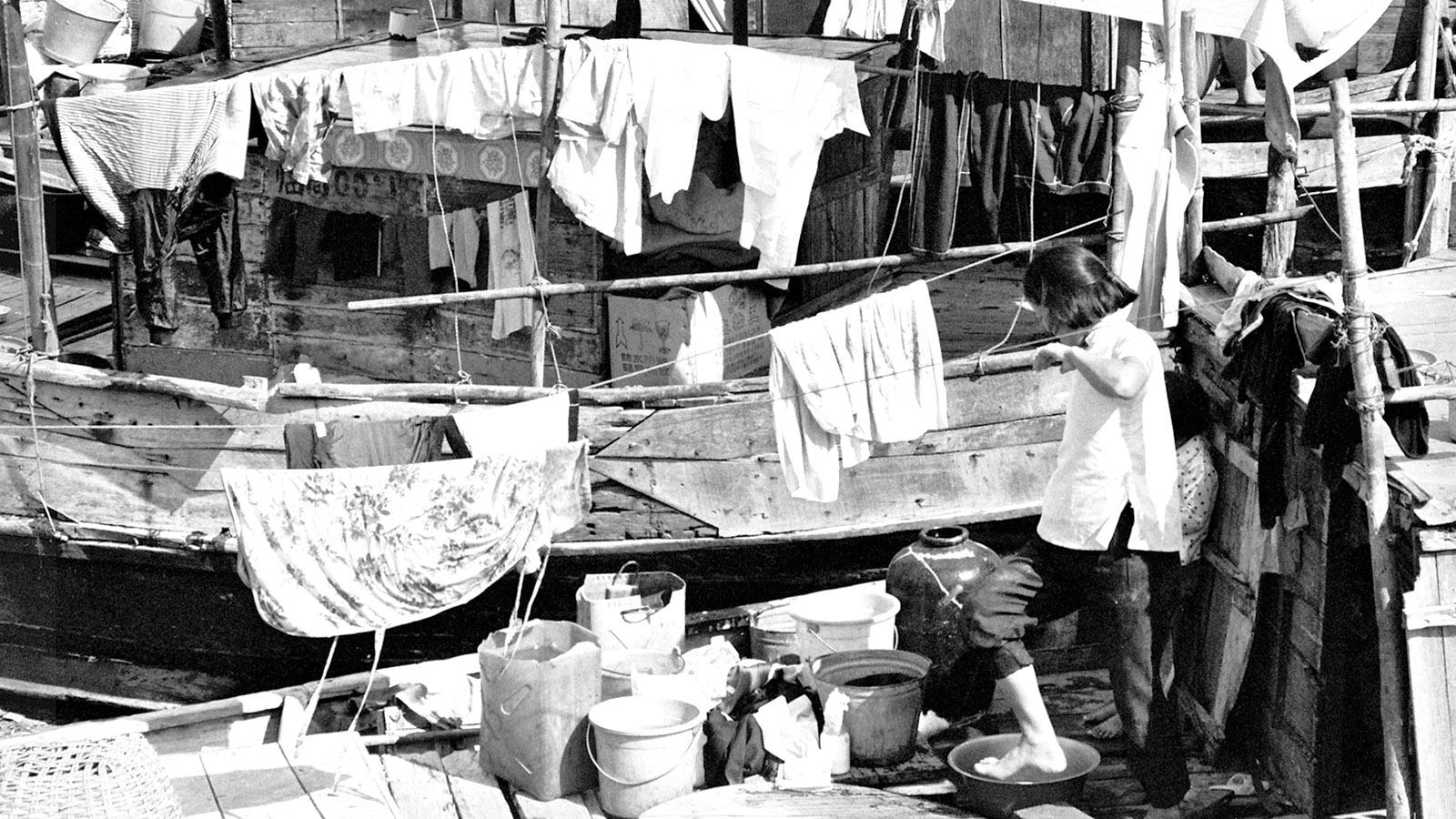 Hainan, Sanya Wohnboote_1990_Foto: Hilke Maunder