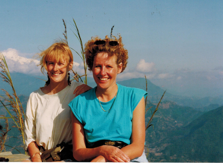 Wandern in Nepal: Vorbereitungswandern: Zusammen mit Kath erkundete ich die kleineren Berge der Umgebung von Pokhara.
