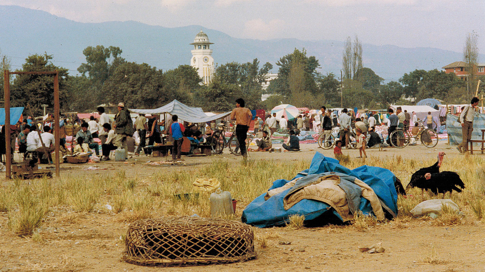 Nepal: Kathmandu im November 1991 war noch sehr ländlich... Foto: Hilke Maunder