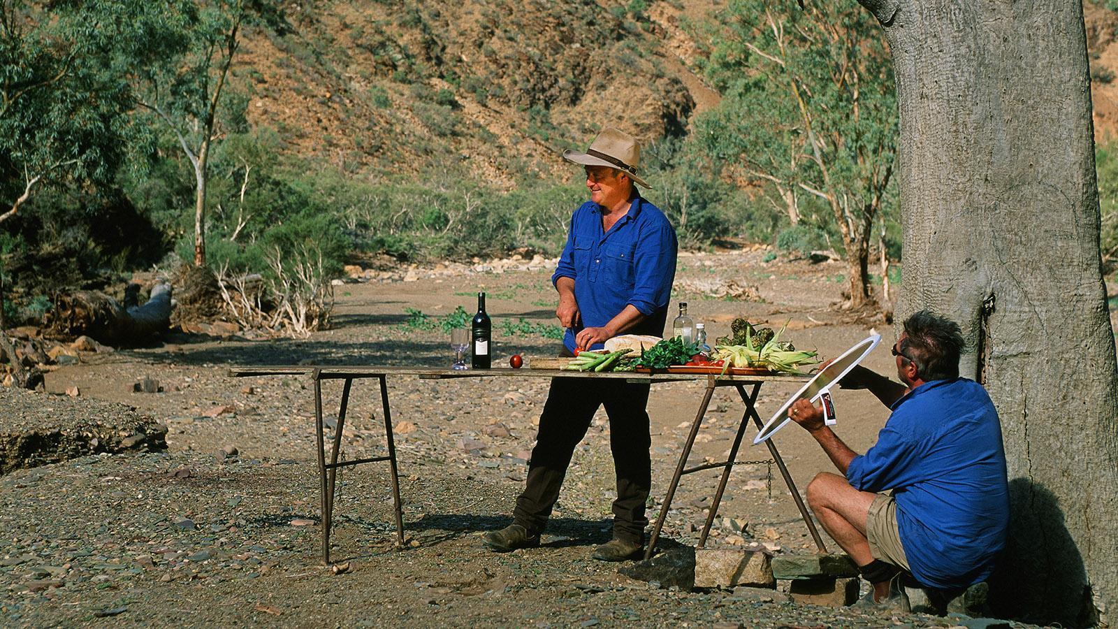 Südaustralien: Foto-Session mit TV-Koch Andrew Dwyer in der Parachilna Gorge. Foto: Hilke Maunder