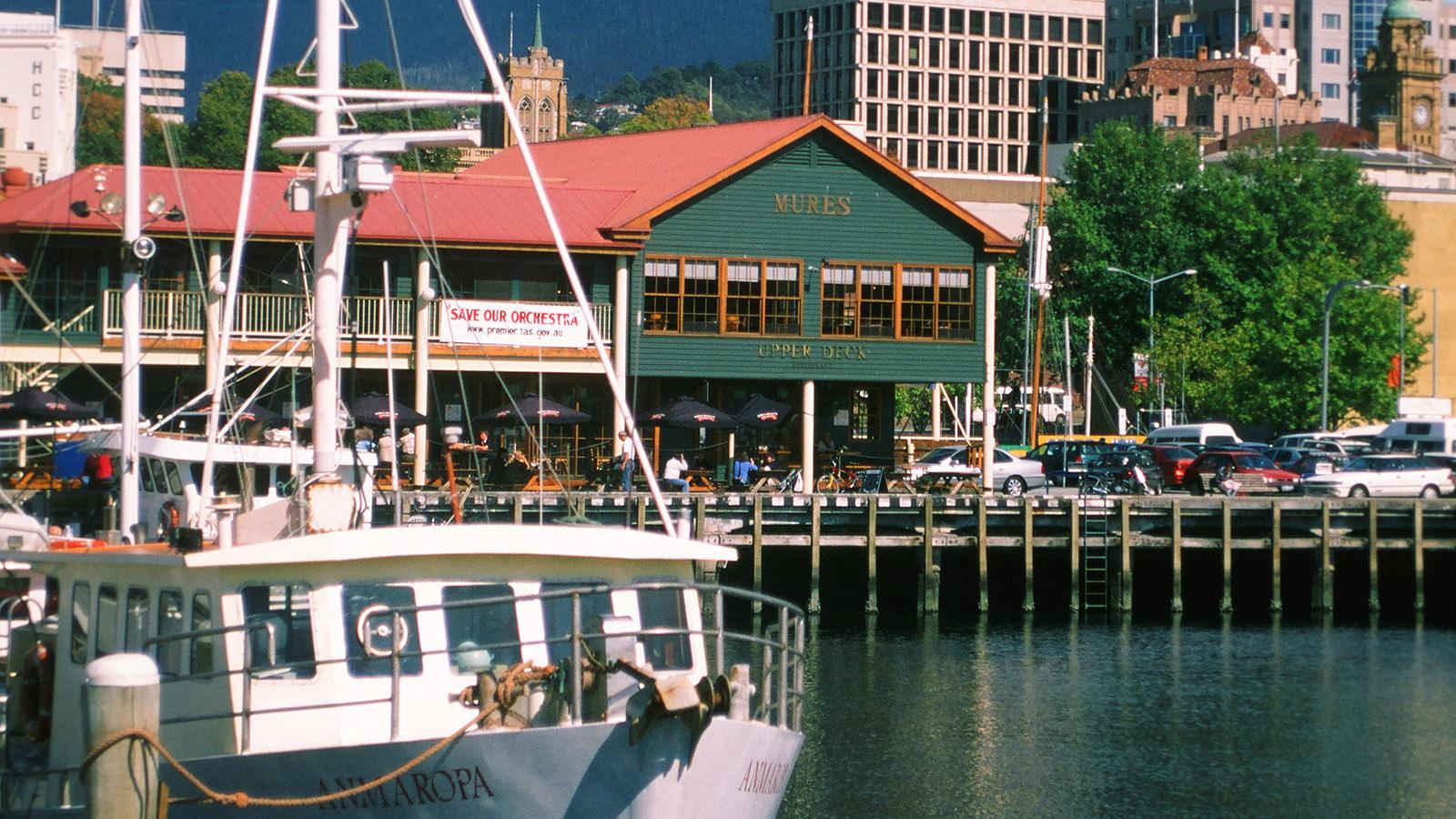 Das Restaurant Mures ist eine Institution am Hafen von Hobart. Foto: Hilke Maunder