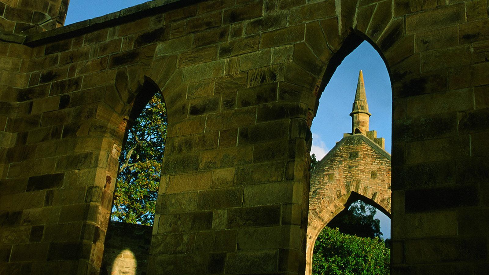 Nie geweiht: die Kirche von Port Arthur. Foto: Hilke Maunder