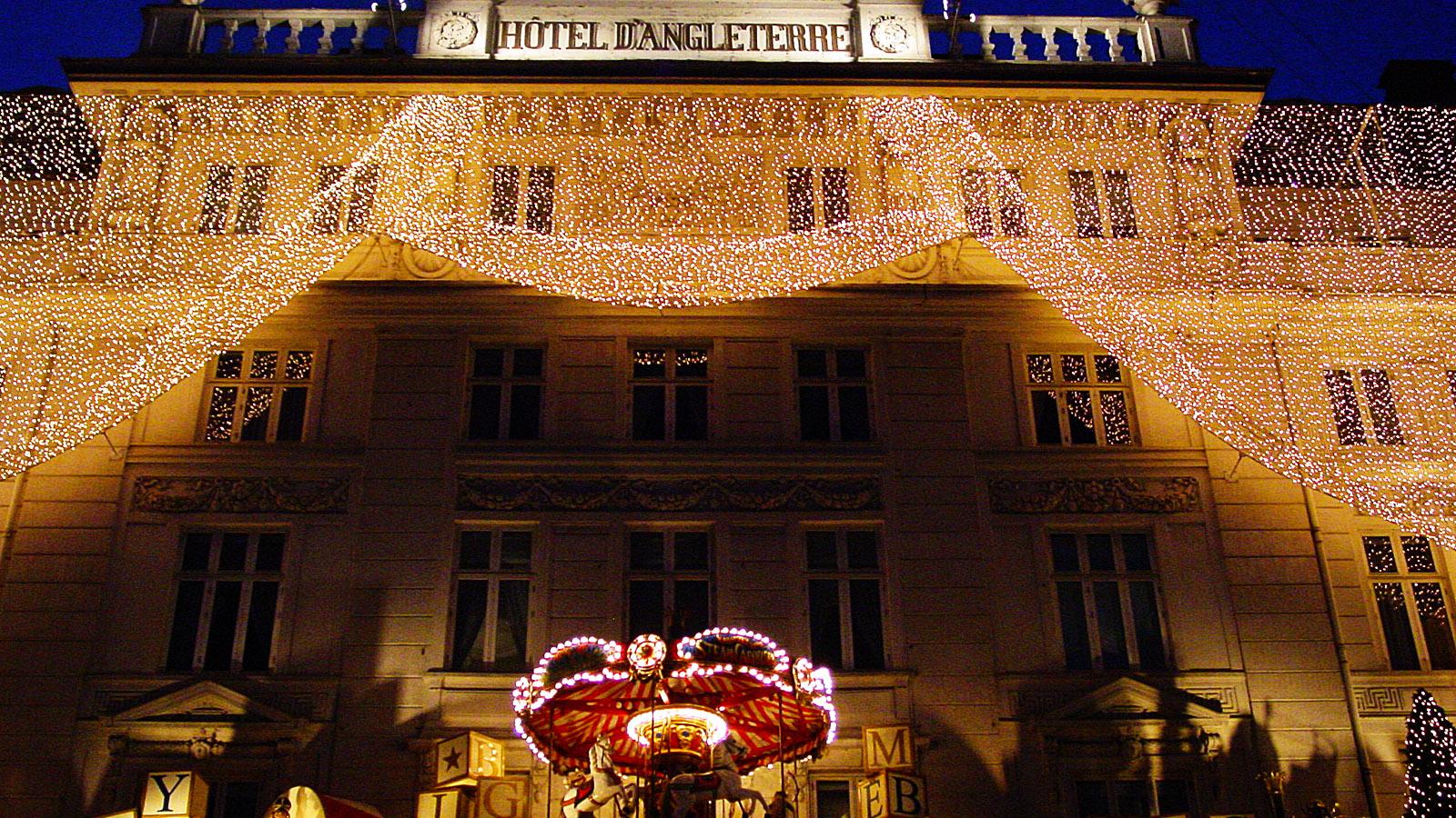 Juletid: Das Hotel Angleterre am Kongens Nytorv. Foto: Hilke Maunder