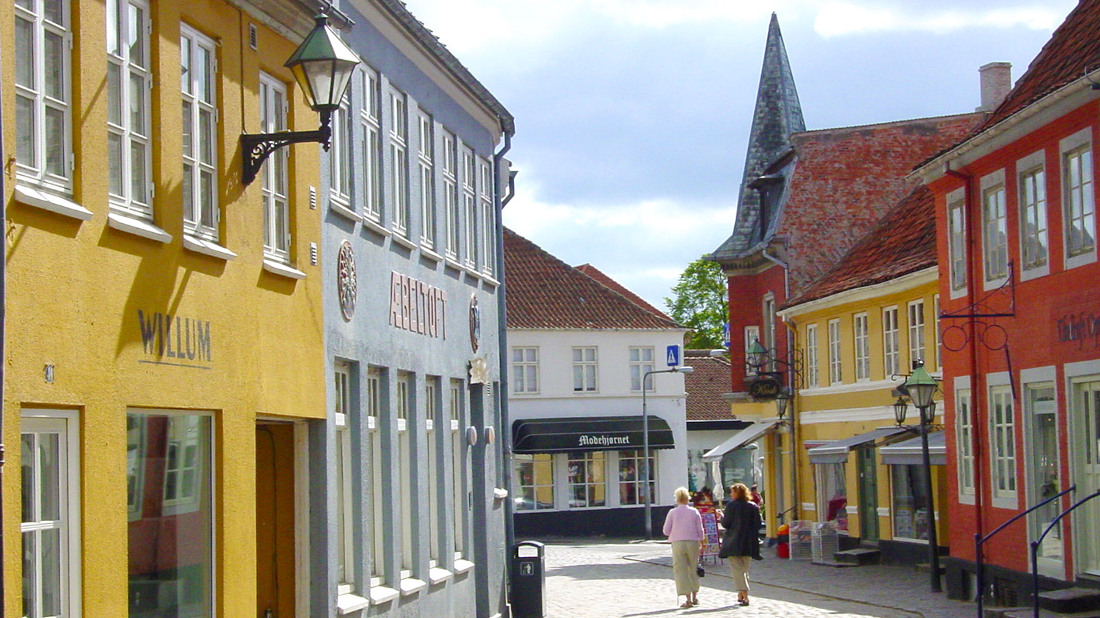 Djursland: Die Adelgade von Ebeltoft. Foto: Hilke Maunder