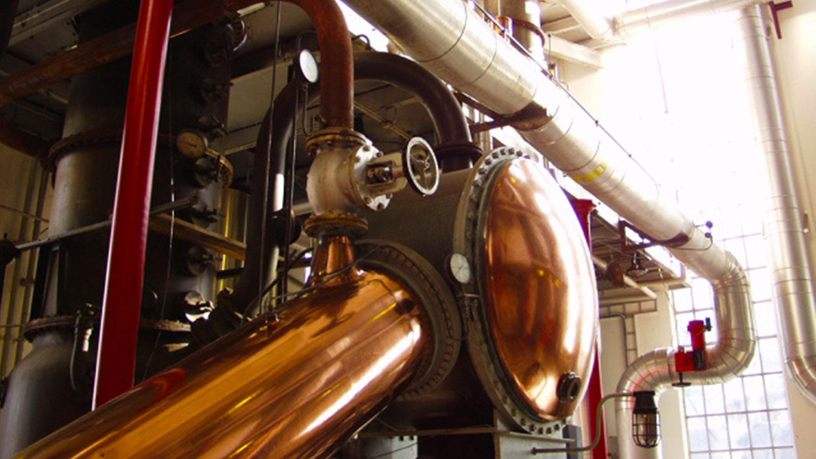 Schnapsroute: Der Destillationsapparat bei Aalborg Akvavit. Foto: Hilke Maunder