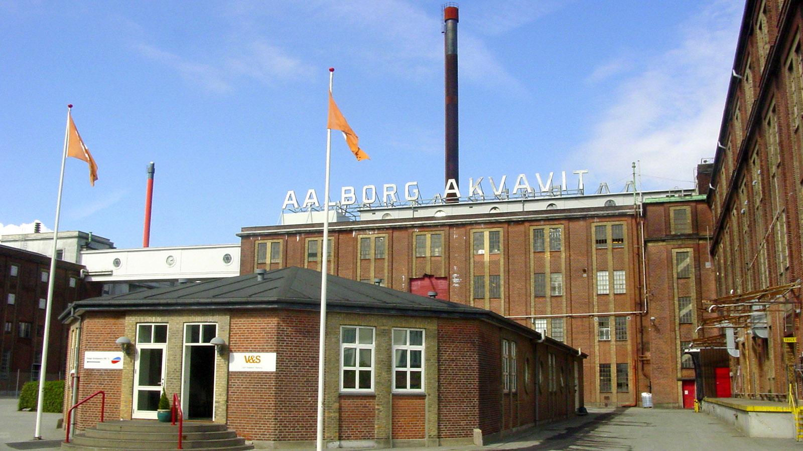 Schnapsroute: Aalborg Akvavit: das Fabrikgelände. Foto: Hike Maunder