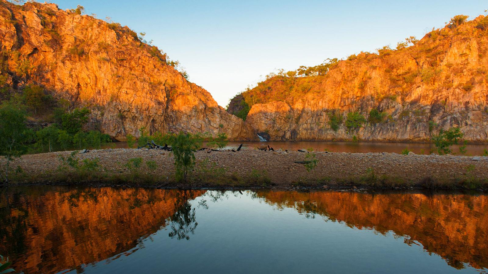 Drehorte. Die Lower Edith Falls (Leliyn) im Nitmiluk National Park. Foto: Hilke Maunder