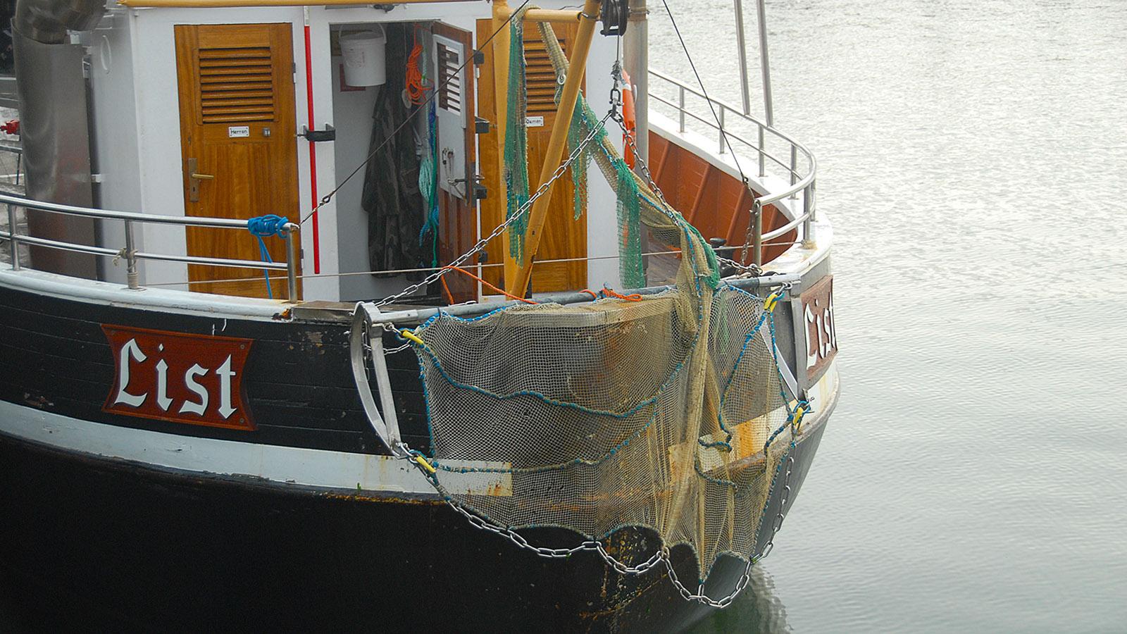 Krabbenkutter im Hafen von List. Foto: Hilke Maunder