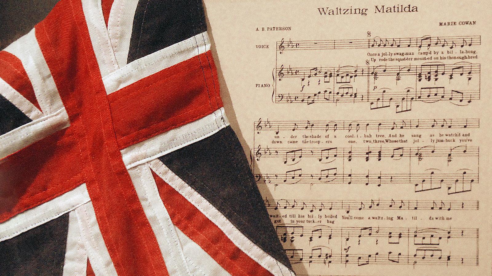 Im Waltzing Matilda Centre von Winton erhalten: die Noten des inoffiziellen Nationalsongs. Foto: Hilke Maunder