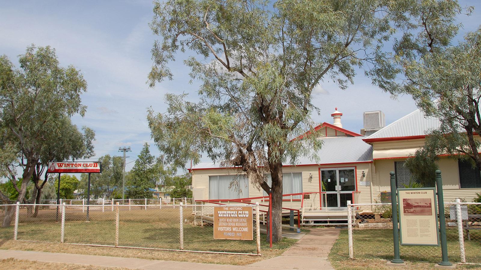 Im Winton Club wurde Qantas offiziell gegründet - hier fand die konstituierende Sitzung statt. Foto: Hilke Maunder