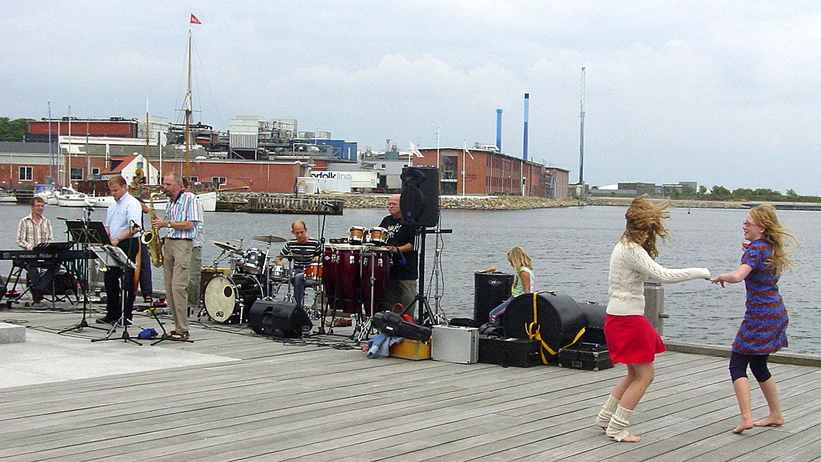 Thy: Jazz am Hafen von Thisted. Foto: Hilke Maunder