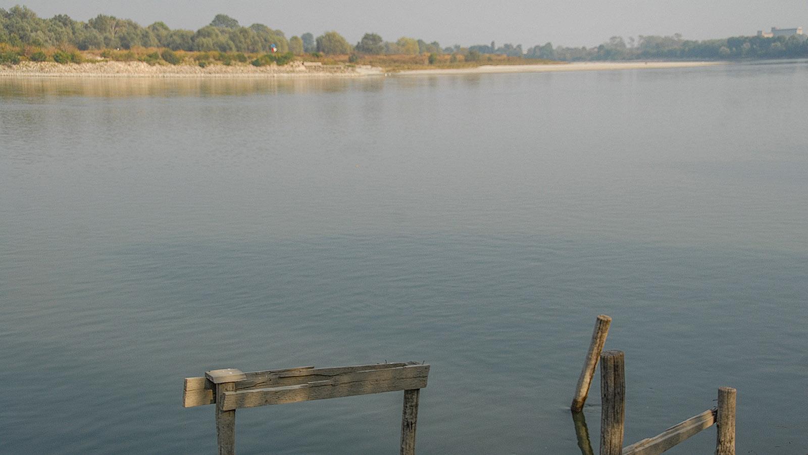 Polesine Parmense: Po-Fluss