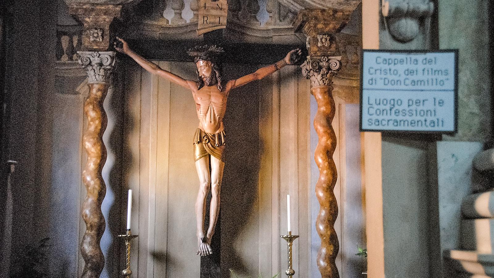 Der Christus aus den Filmen - ihr findet ihn in der Pfarrkirche von Brescello. Foto: Hilke Maunder