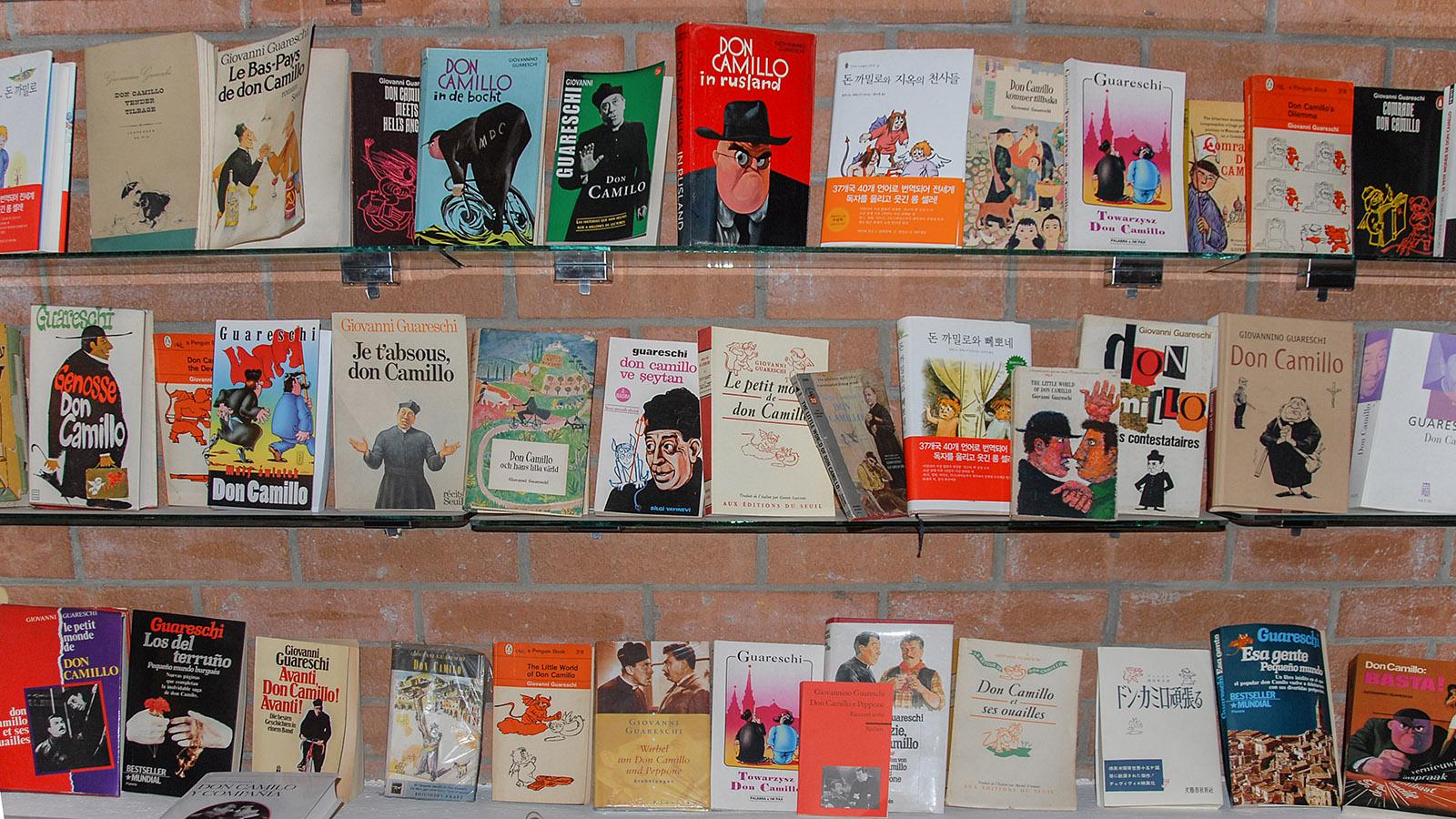 Auswahl der Werke von Guareschi im Museum von Roncole Verdi. Foto: Hilke Maunder