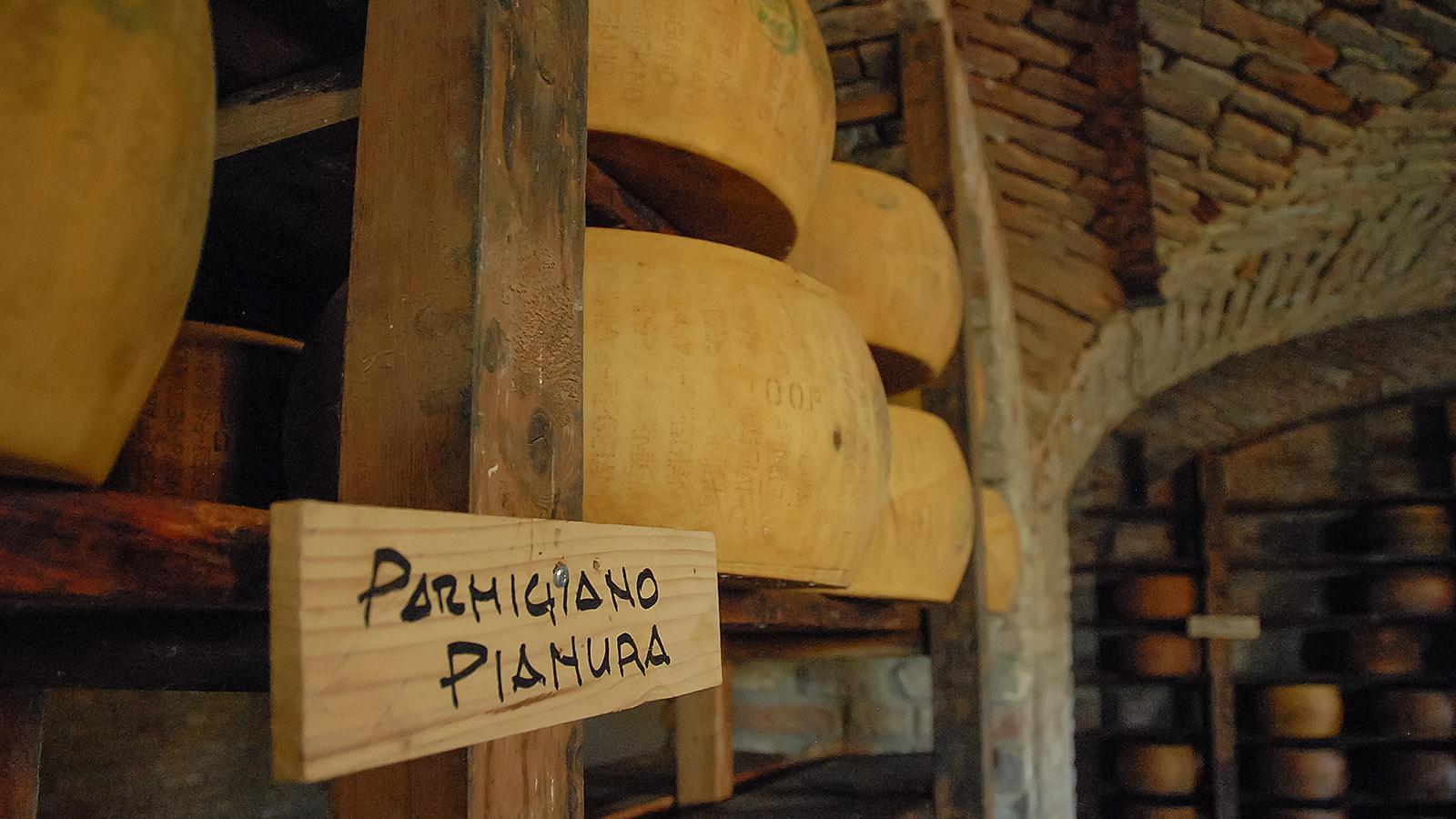 Der Reifekeller für Pamesan im Antica Corte Pallavicina. Foto: Hilke Maunder