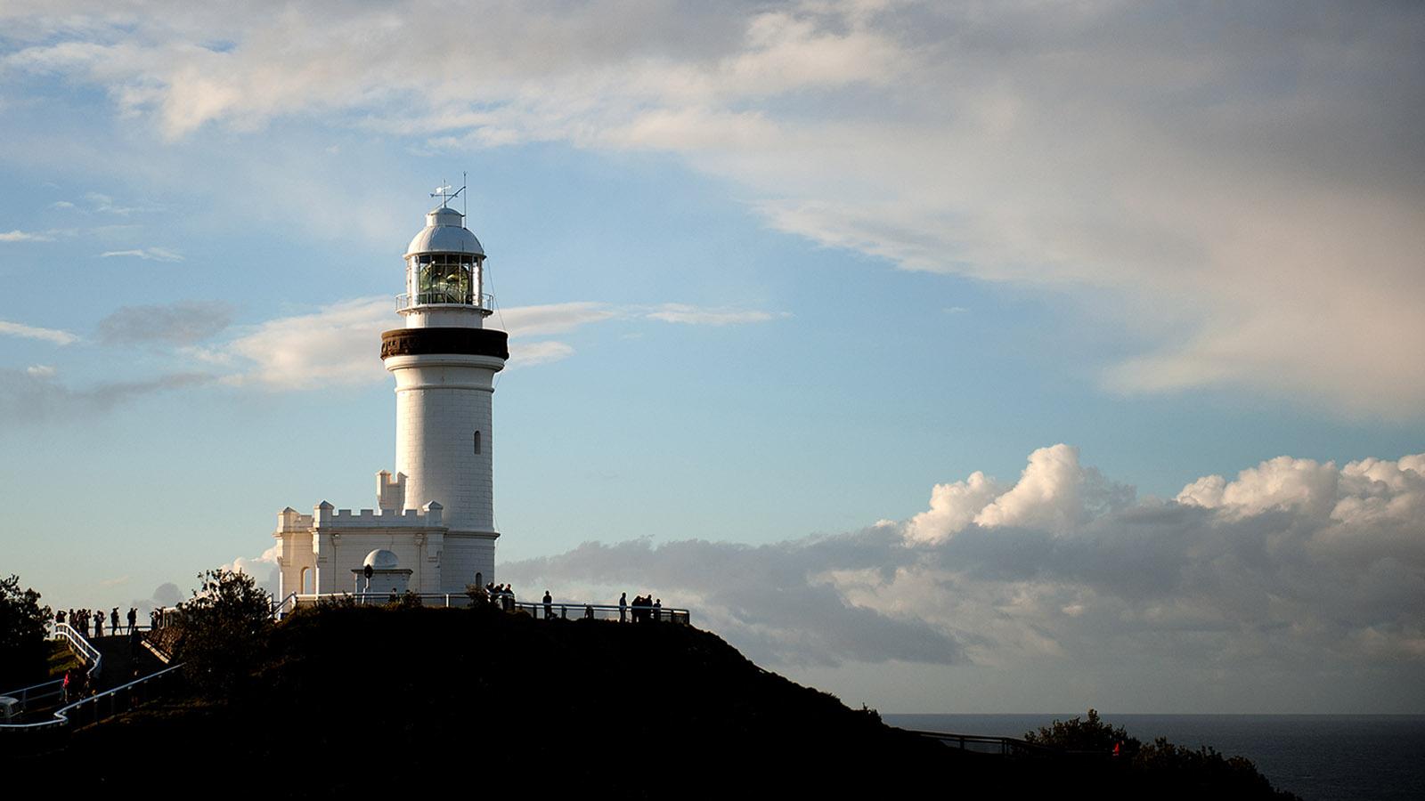 Australische Leuchttürme: Der Leuchtturm von Byron Bay auf dem östlichen Kap der Ostküste Australiens. Foto: Hilke Maunder