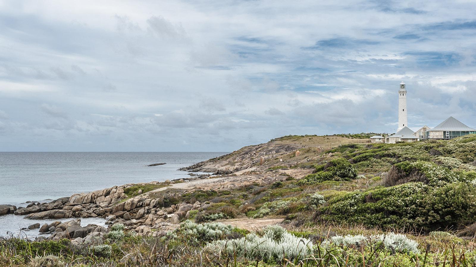 Australische Leuchttürme: Der Leuchtturm von Cape Leeuwin an der Westspitze des Kontinents. Foto: Hilke Maunder