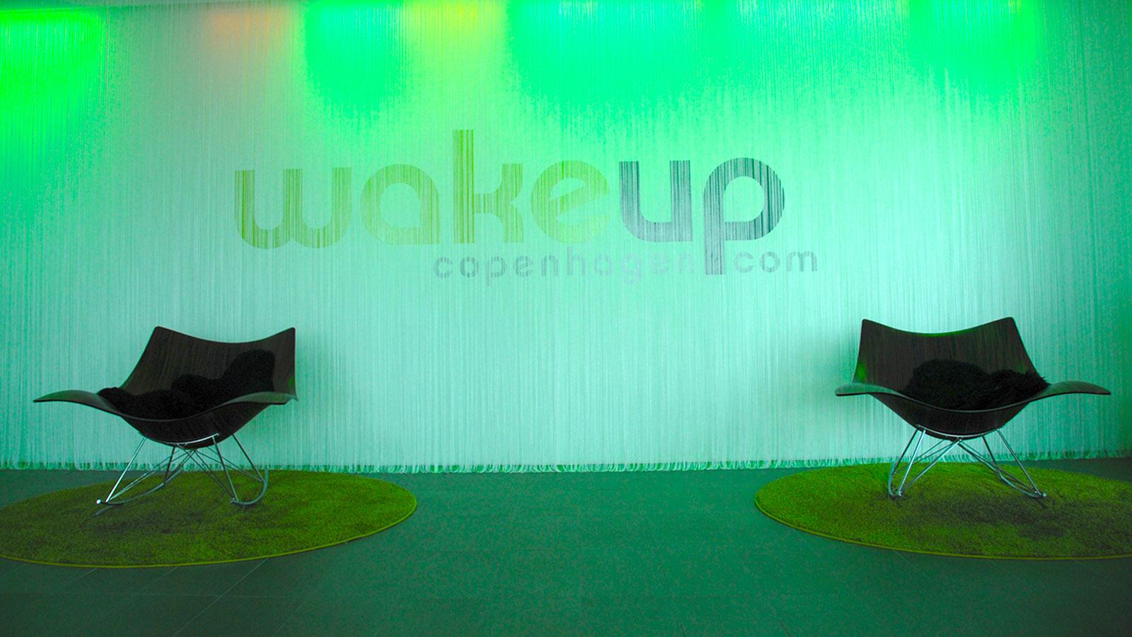 Grünes Kopenhagen. Wake Up Hotel: das Foyer. Foto: Hilke Maunder