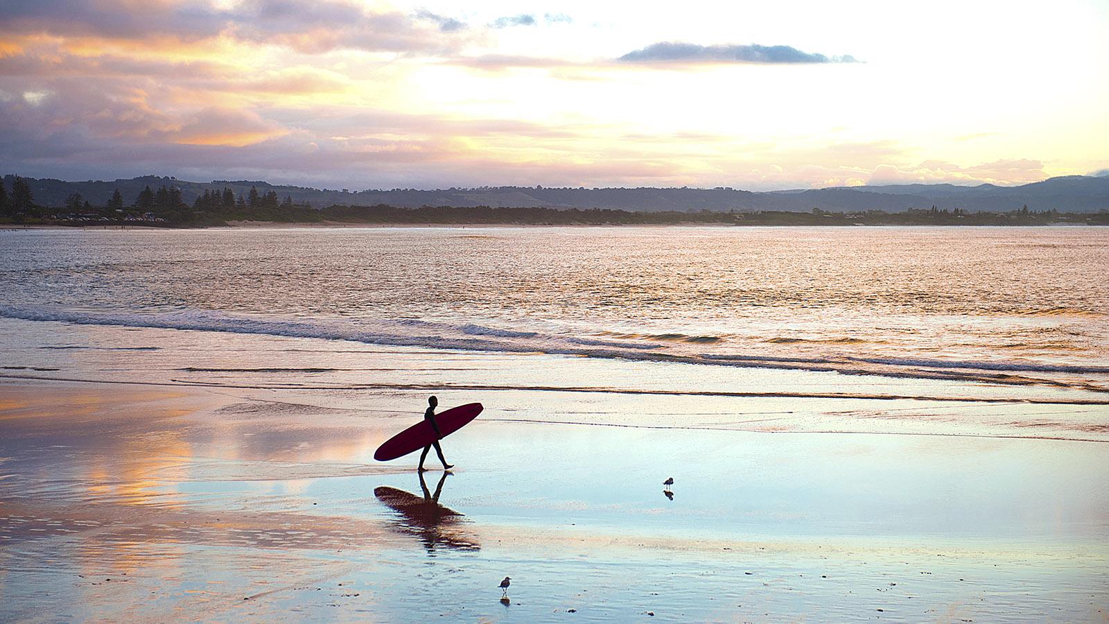 Byron Bay ist wie Surfers Paradise an Hotspot der Surfer an der Ostküste. Foto: Hilke Maunder