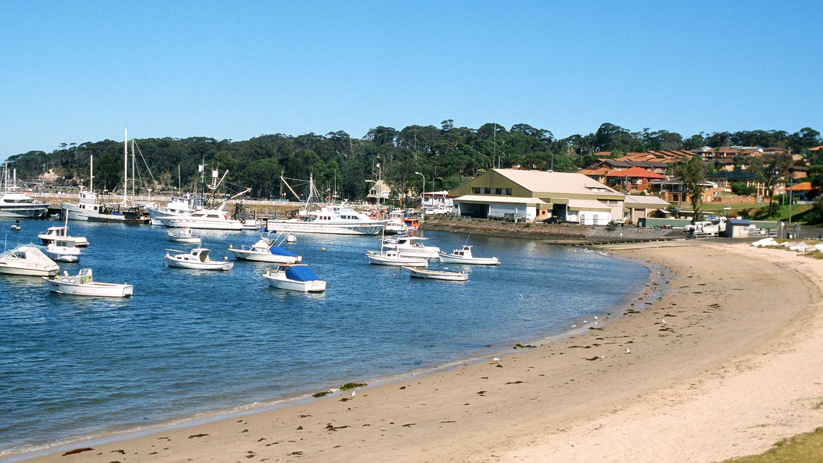 Sydney-Melbourne Coastal Drive: Der Beach Park von Ulludulla an der South Coast. Foto: Hilke Maunder