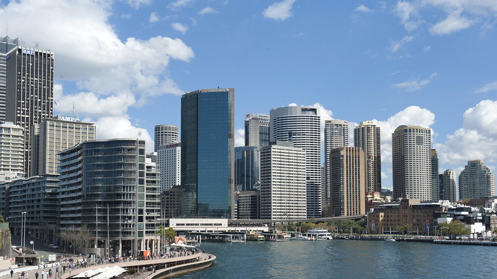 Sydney-Melbourne Coastal Drive: Circular Quay und der CBD von Sydney. Foto: Hilke Maunder
