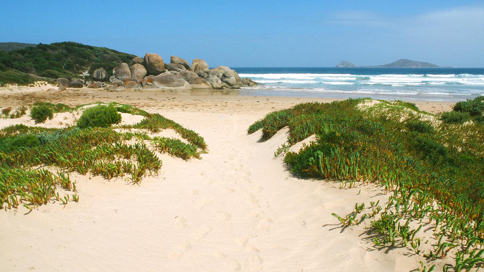 Sydney-Melbourne Coastal Drive: Die Whisky Bay des Wilsons Promontory. Foto: Hilke Maunder