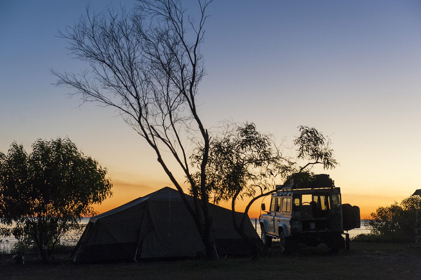 Abendstimmung auf dem camp ground von Kooljaman.  Foto: Hilke Maunder