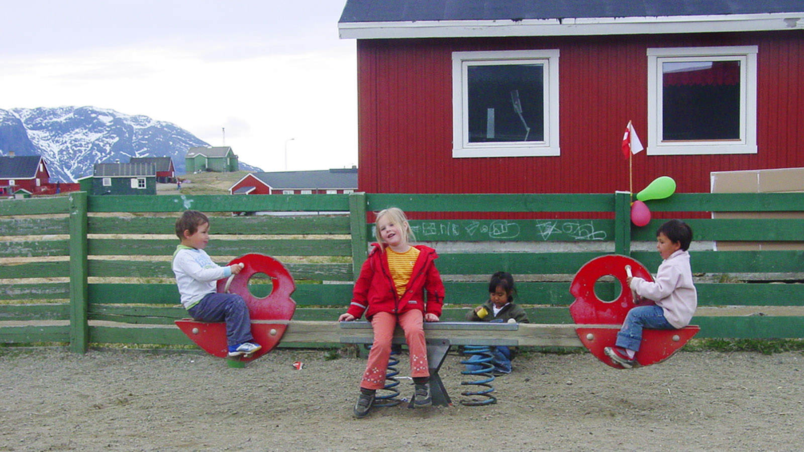 Grönland mit MS Fram: Der Kindergarten von Narsaq. Foto: Hilke Maunder
