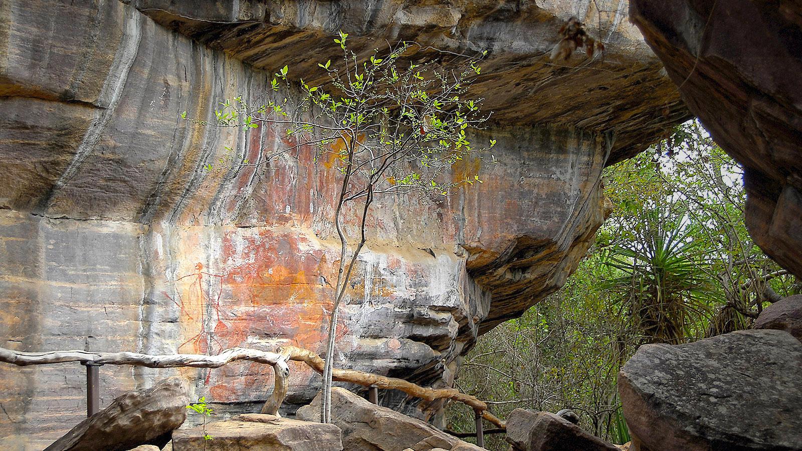 Röntgen-Männer am Ubirr Rock von Kakadu. Foto: Hilke Maunder