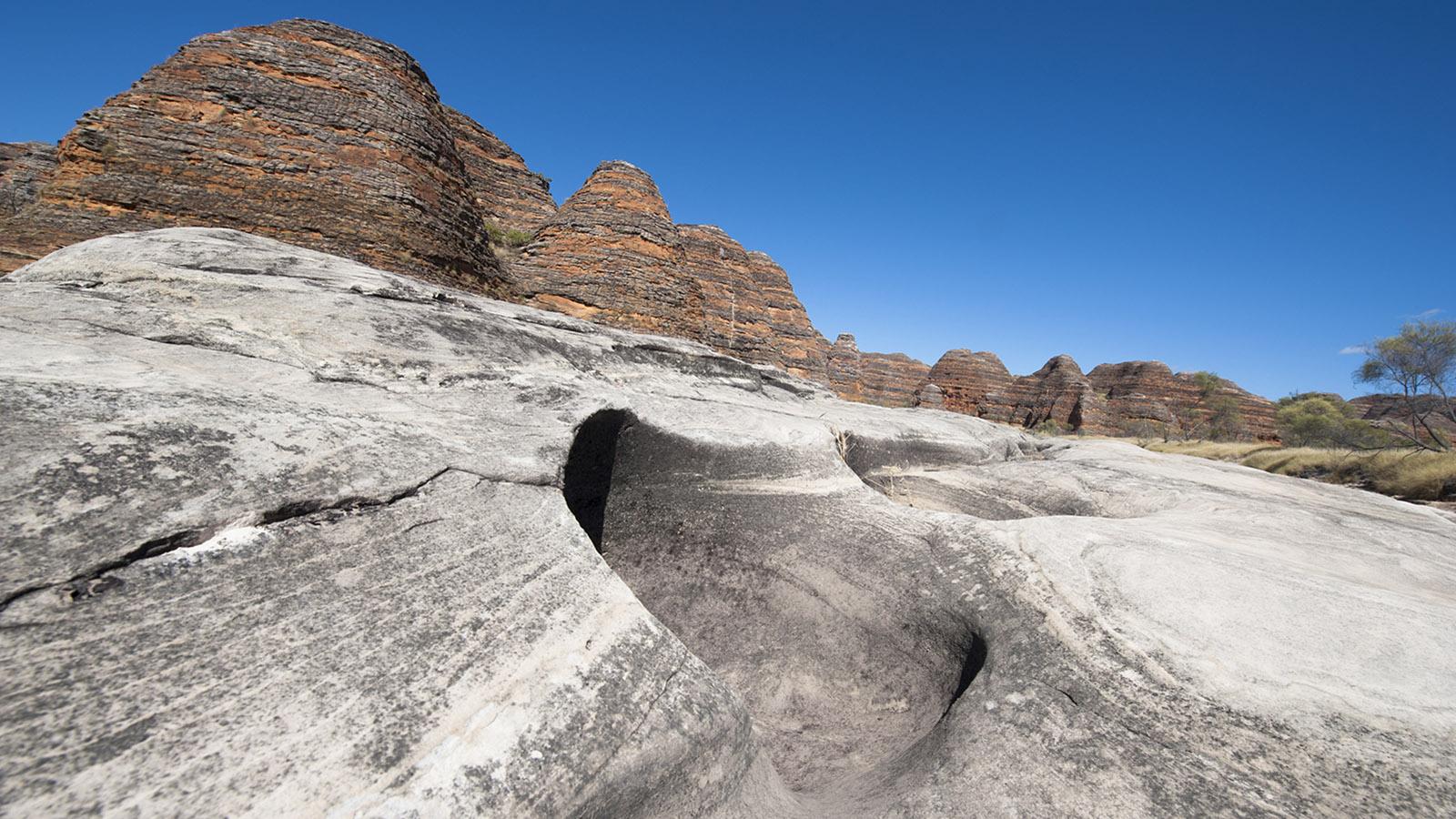 Kimberley: Die Bungle Bungle Range beim Piccaninny Creek. Foto: Hilke Maunder