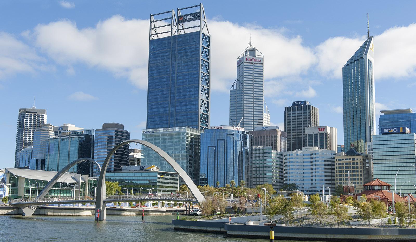 Die neue Waterfront am Elizabeth Quay von Perth. Foto: Hilke Maunder