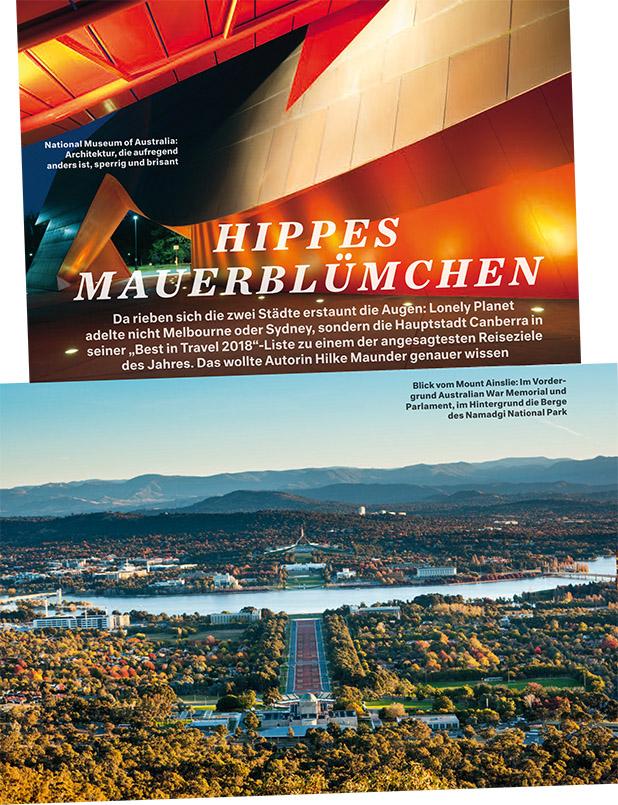 """""""Canberra"""" - das hippe Mauerblümchen. Ein Beitrag von Hilke Maunder"""