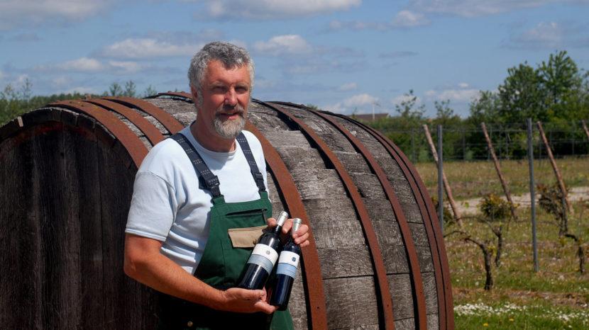 Jørgen Hinsch führte mich durch die Rebgärten des Dansk VinCenter. Foto: Hilke Maunder