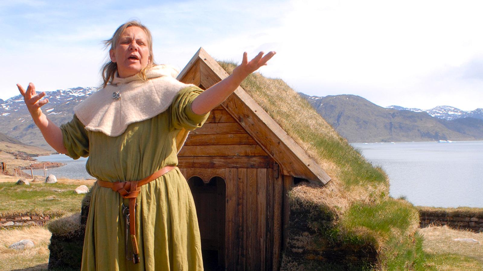 Grönland mit MS Fram: Das Erbe der Wikinger lebt... in Qassiarsuk. Foto: Hilke Maunder